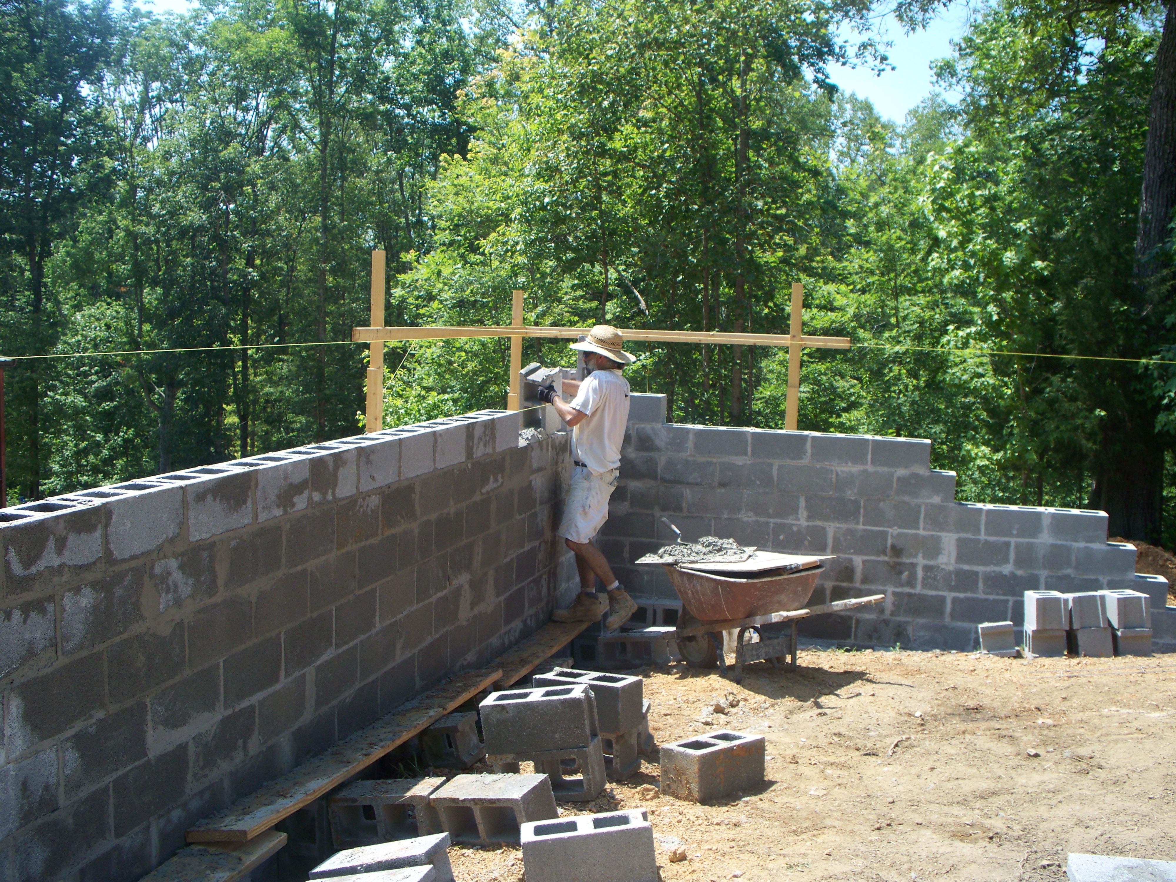 Block Garden Wall