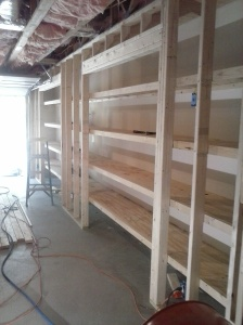 Storage closets under construction